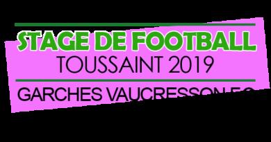 Stage de la Toussaint 2019