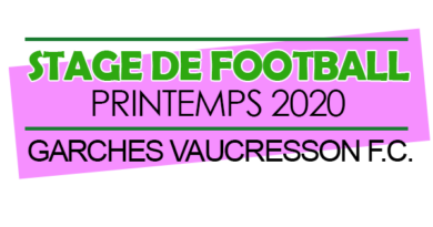 Stage foot PAQUES 2020