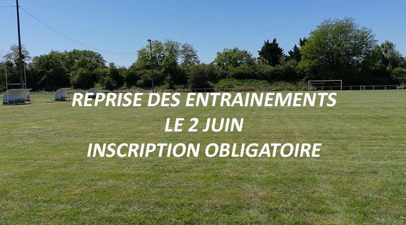 Reprise des entrainements post-covid le 2 juin 2020 - Inscription obligatoire